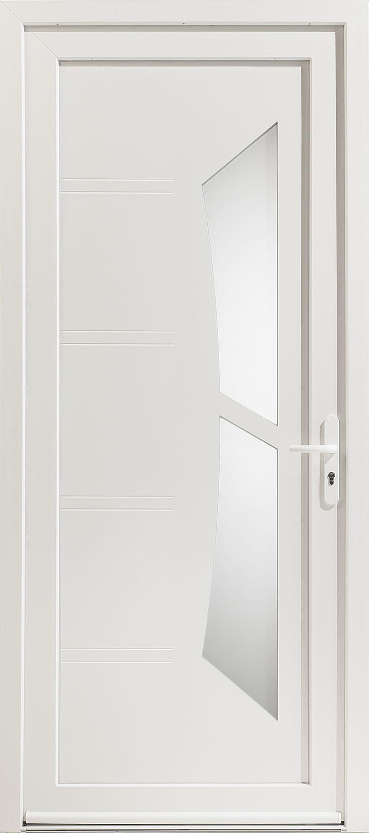 Porte d'entrée PVC Milky 1