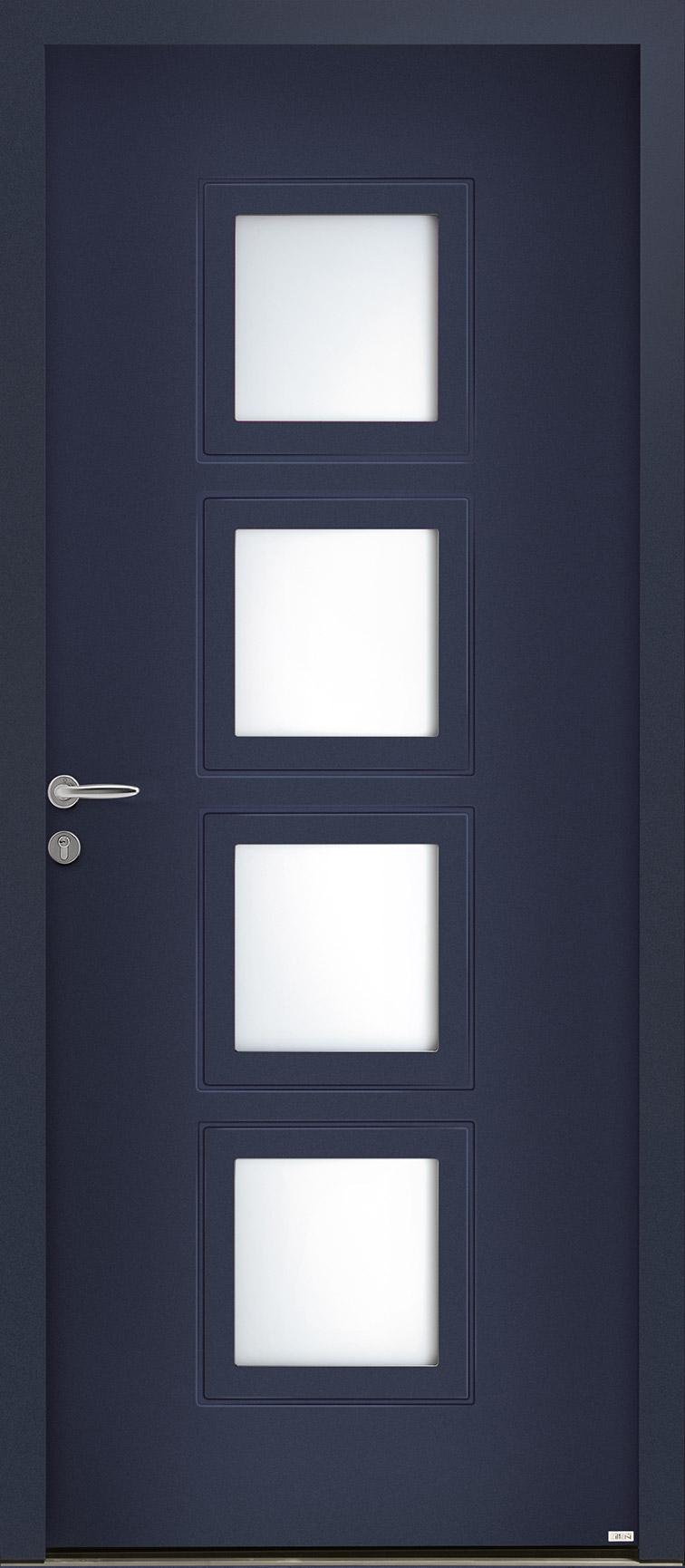 Porte d'entrée bleu violet