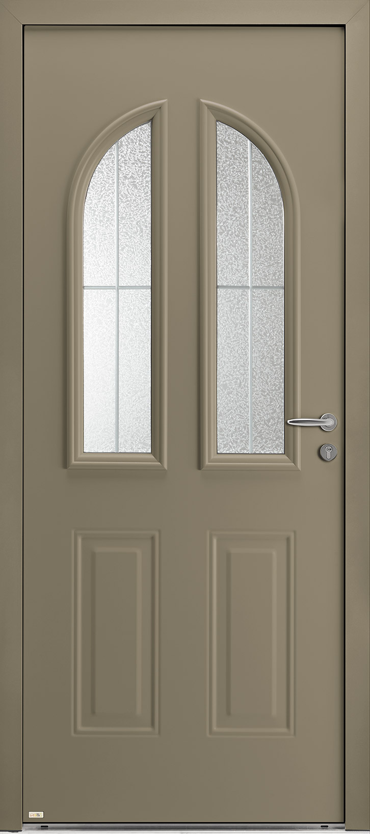 Porte d'entrée beige