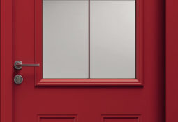 Porte d'entrée rouge