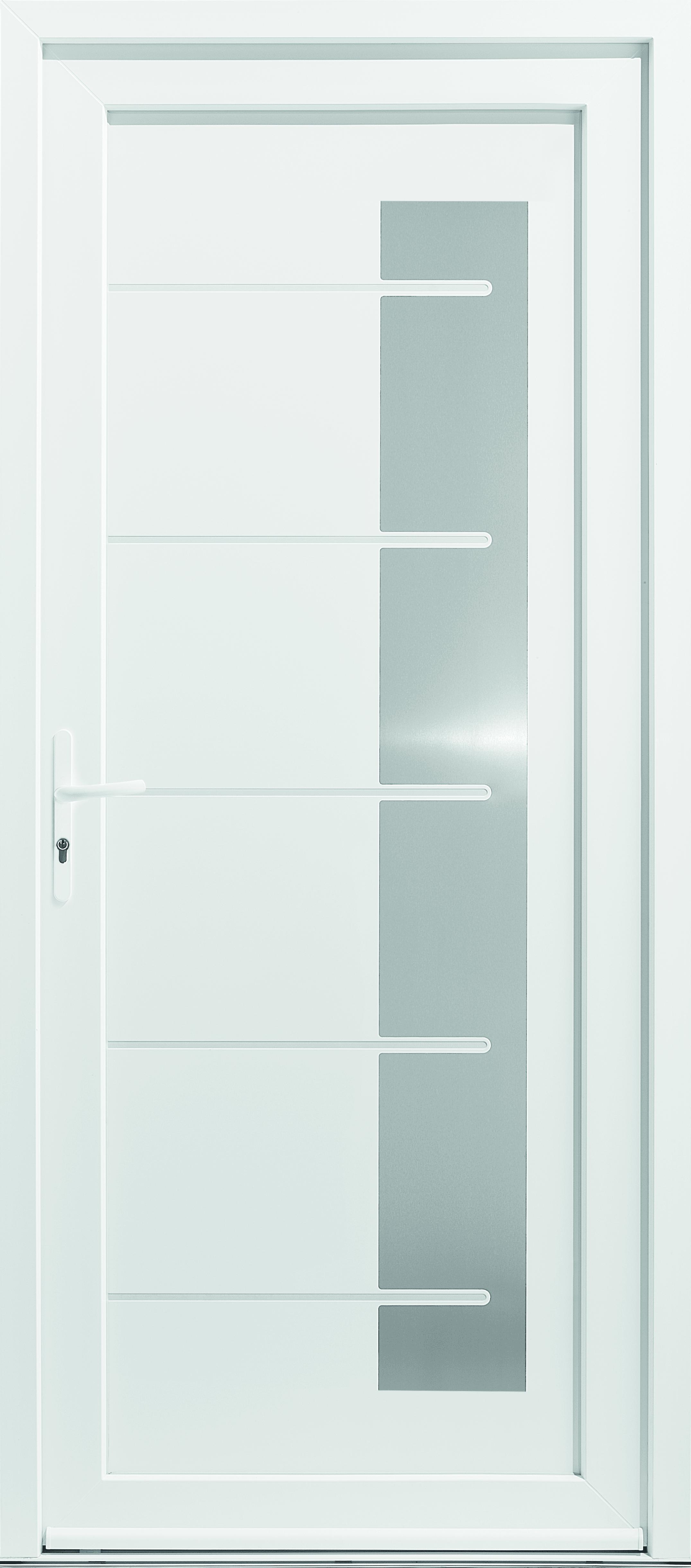 Porte d'entrée PVC Milky 3