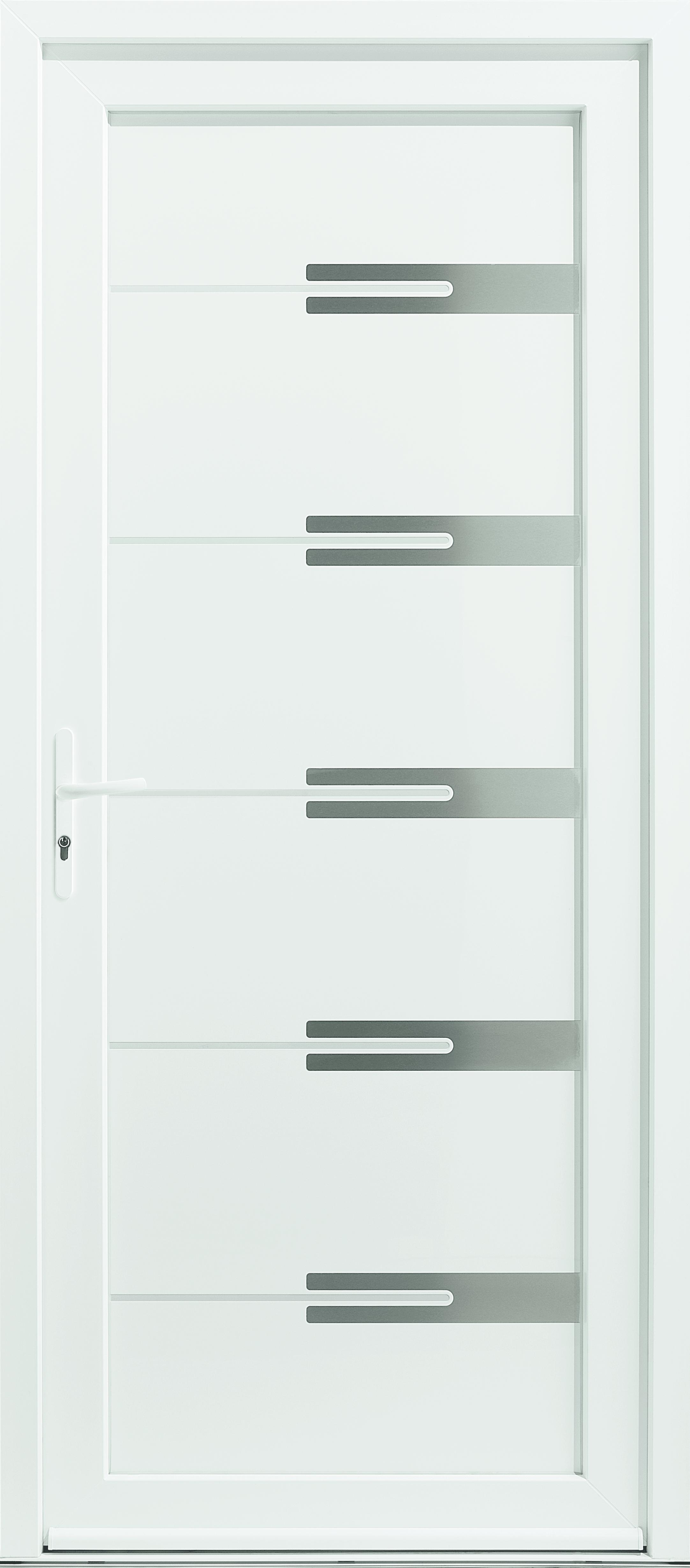 Porte d'entrée PVC Milky 4