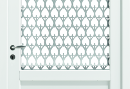 Porte d'entrée blanche en pvc