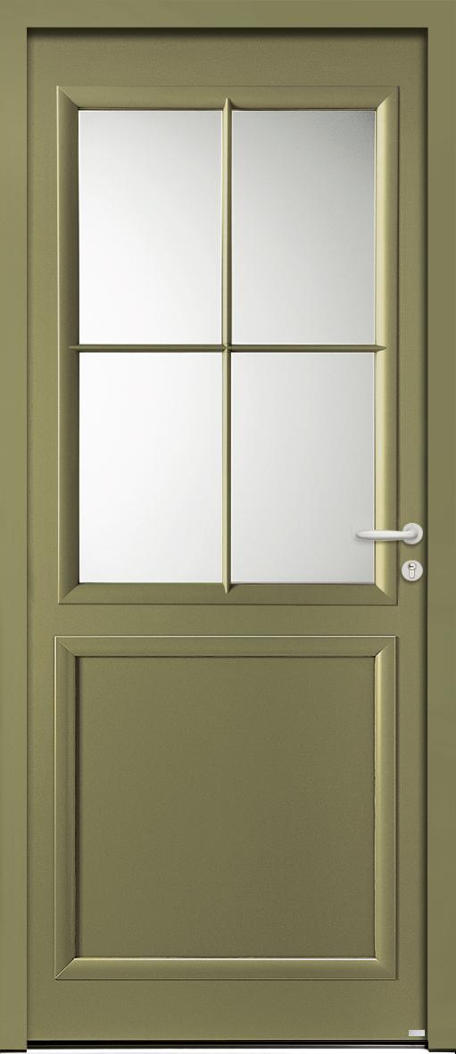 Porte d'entrée olive