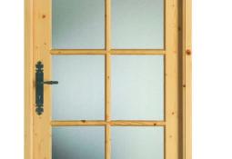 Porte d'intérieur en bois vitrée