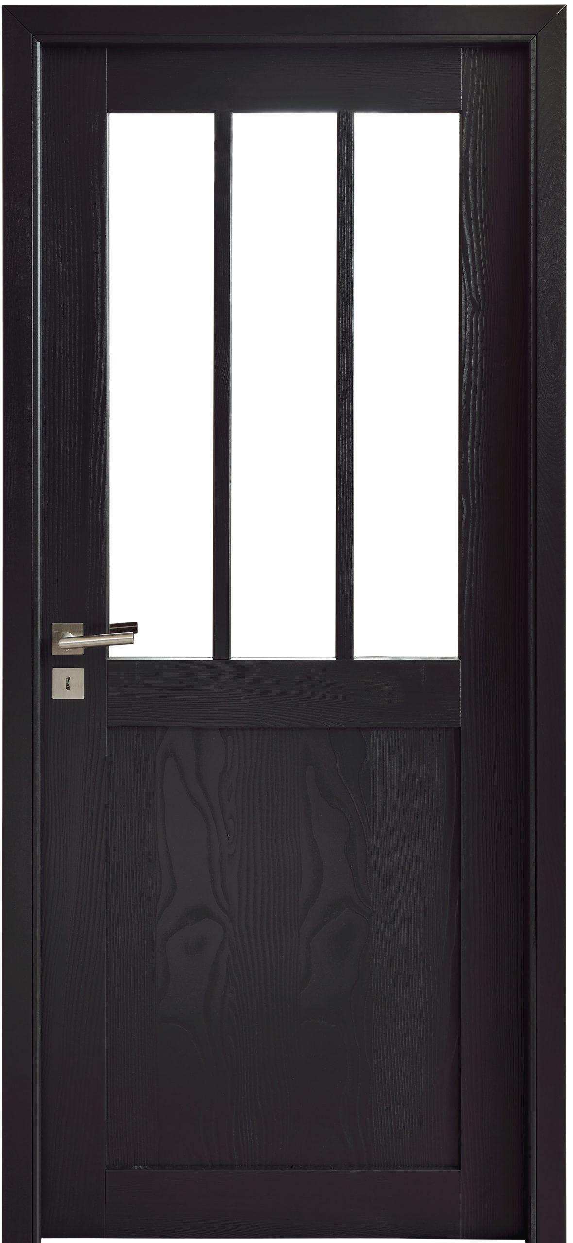 Porte d'intérieur en bois noir
