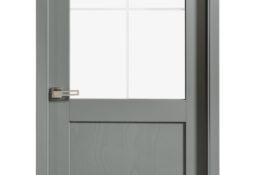 Porte d'intérieur en bois grise