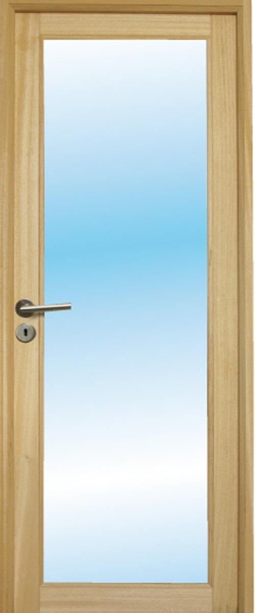 Porte d'intérieur en bois à vitrer