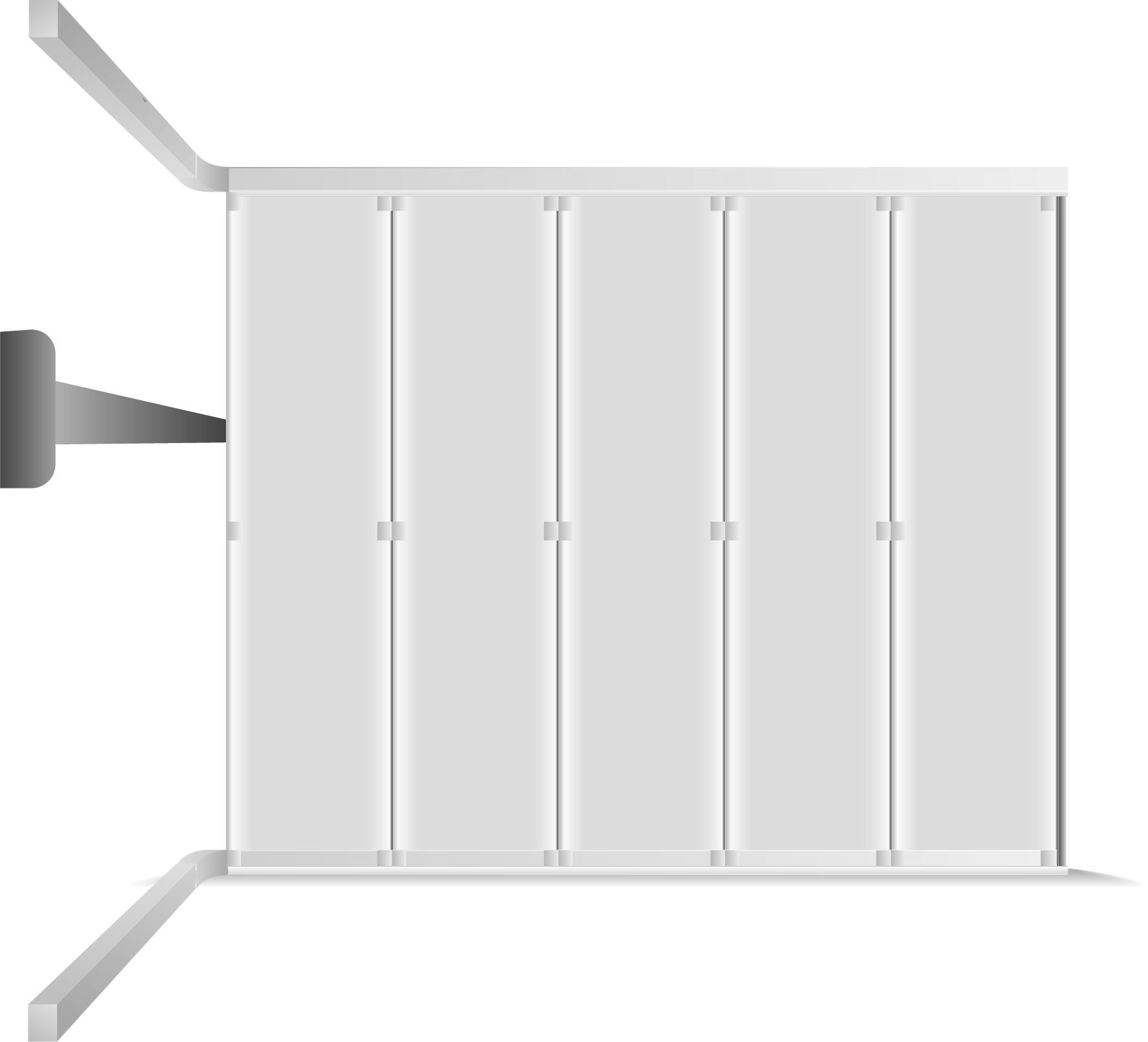Porte à déplacement latérale