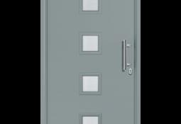 Porte d'entrée grise