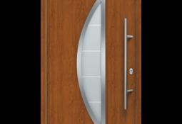 Porte d'entrée brune